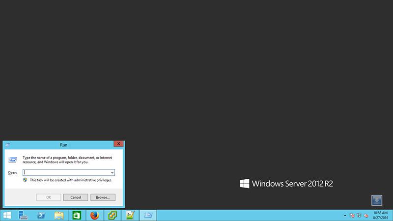 باز کردن جعبه Run ویندوز با ترکیب کلید ویندوز و R