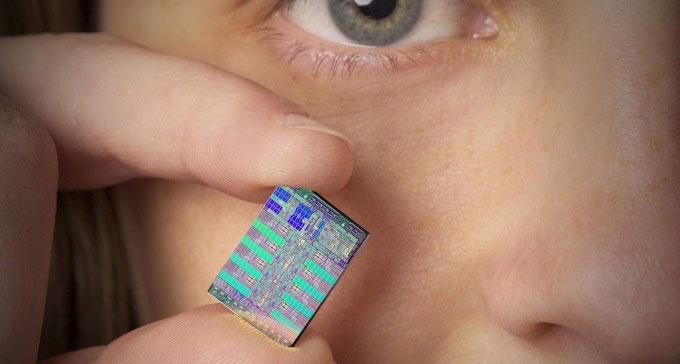 مایکروپراسزور متشکل از اجزایی با ابعاد نانومتر است